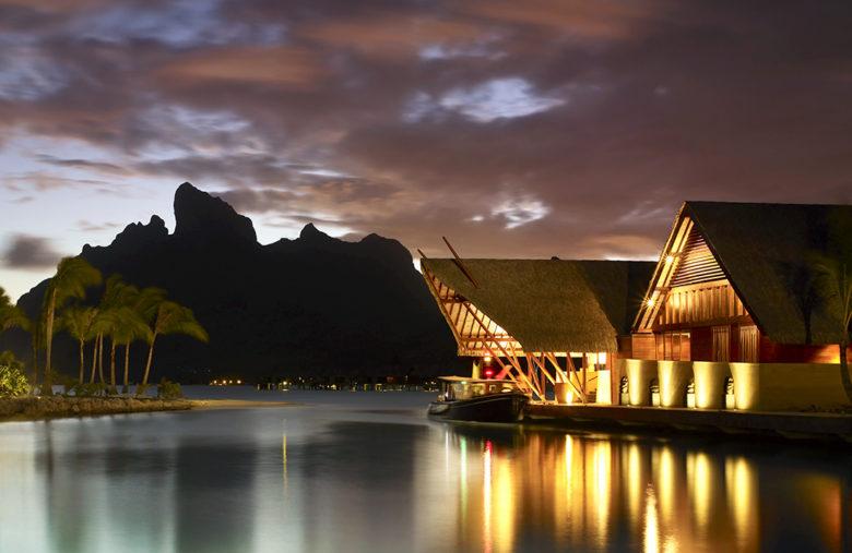 best picture sunset at the Four Seasons Resort Bora Bora