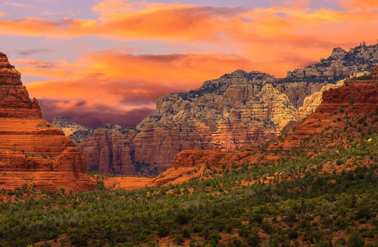 best picture sunset in Sedona Arizona