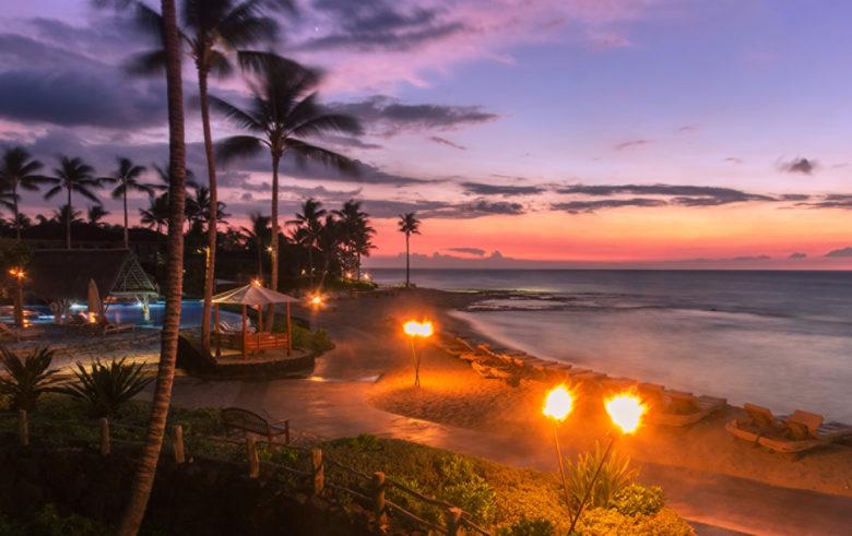 best sunset at Four Seasons Hualalai Kailua Kona Bay