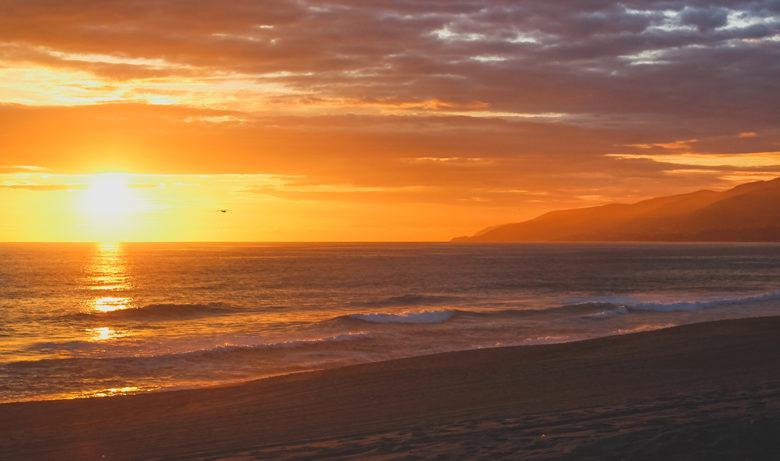 best sunset at Point Dume State Beach Malibu CA