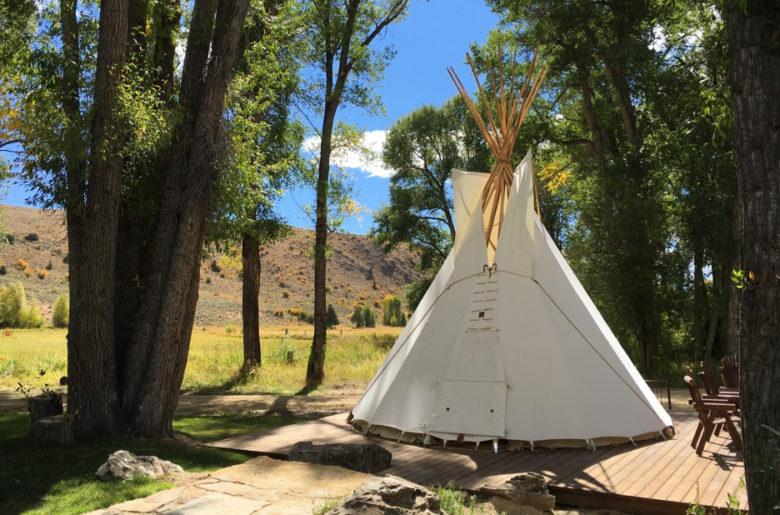 private yurt apres ski at Brush Creek in Wyoming