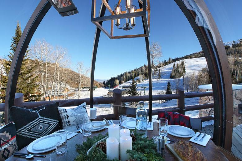 the best apres ski in Utah at Stein Erickson Lodge