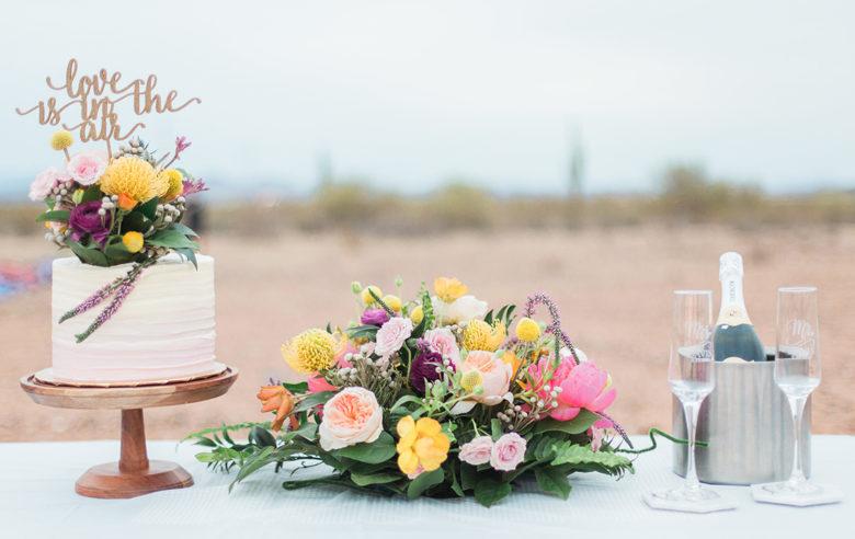 New Mexico covid destination wedding in a hot air balloon