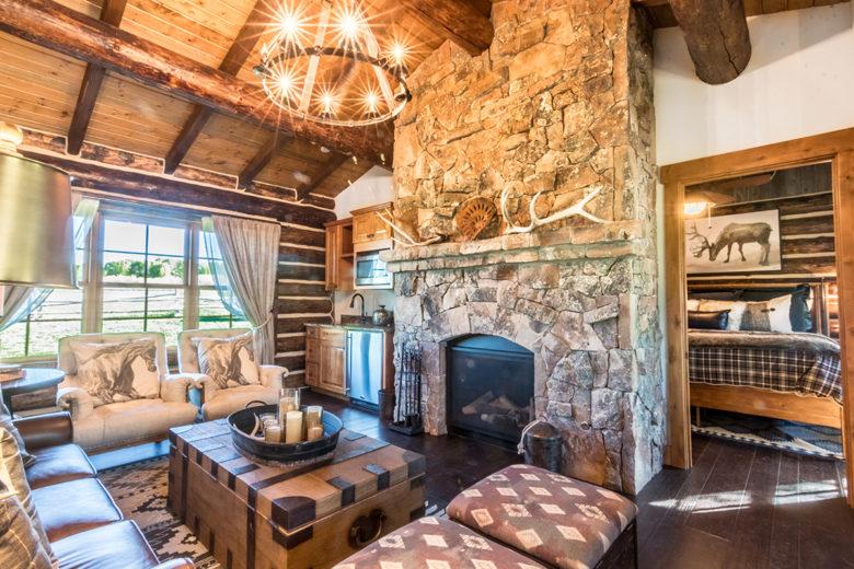 cabin at Brush Creek Ranch Wyoming