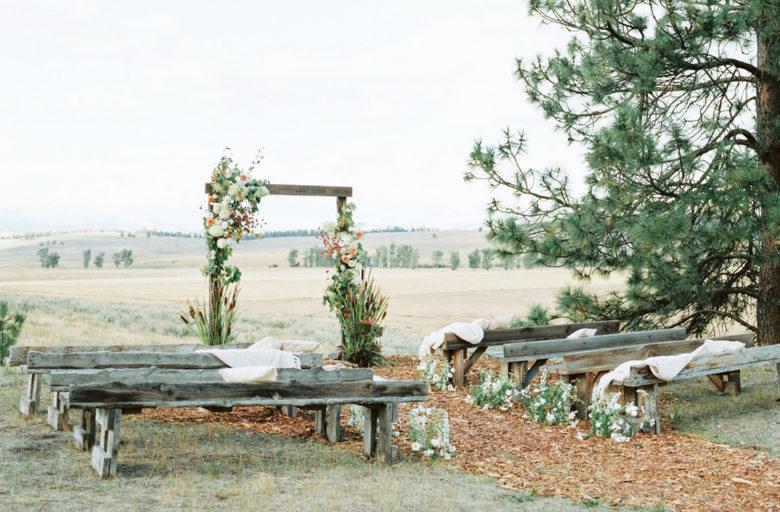 covid destination wedding at Paws Up Montana