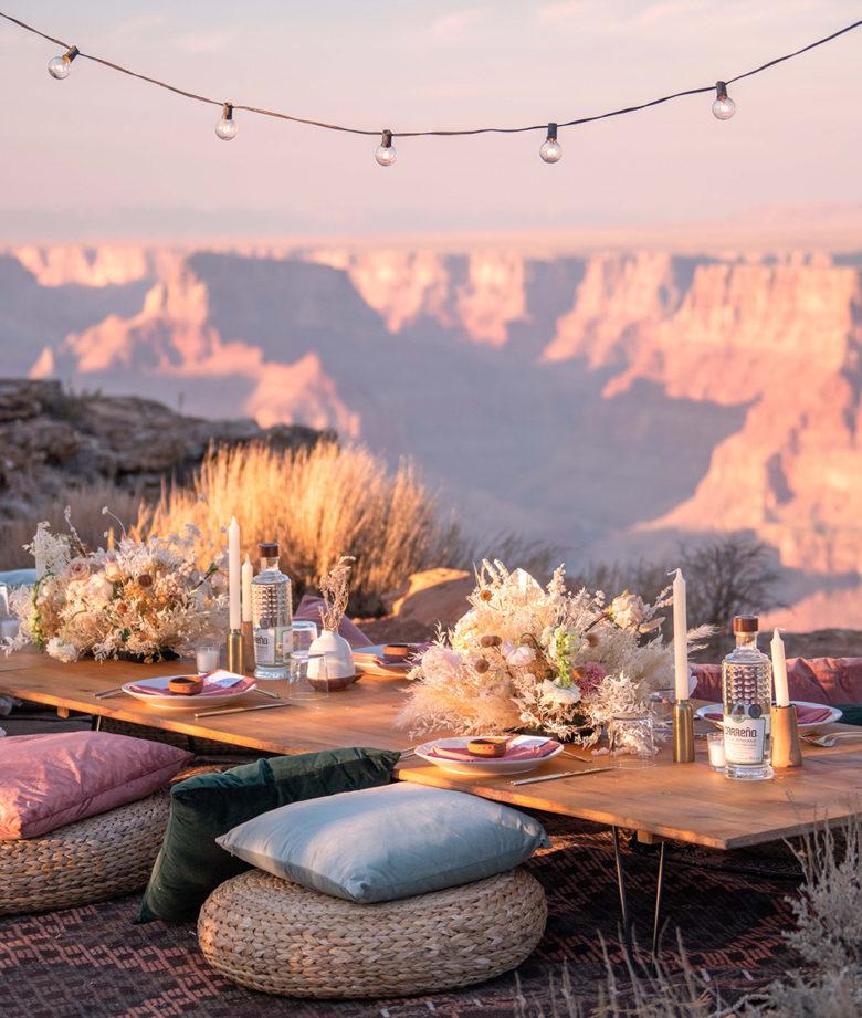covid destination wedding at the Grand Canyon