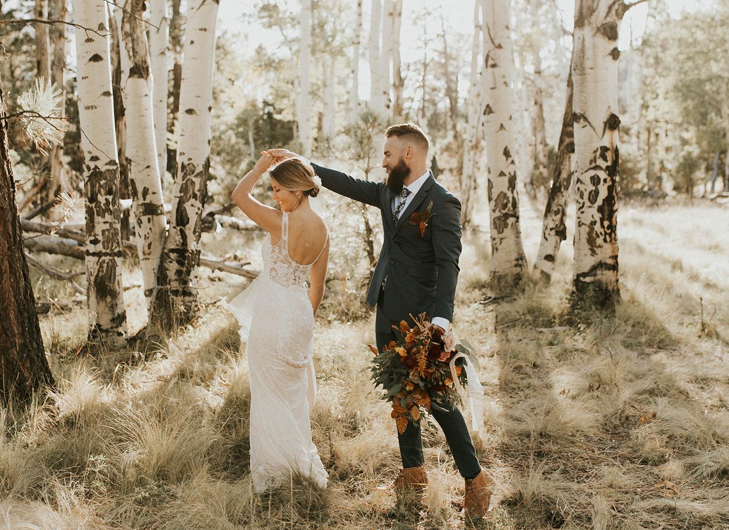 covid destination wedding in Flagstaff Arizona