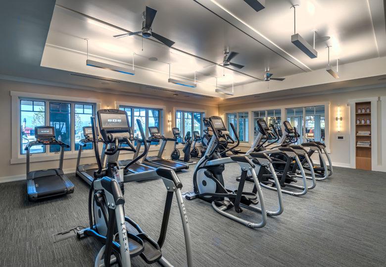 gym at Lake Tahoe Beach and ski Club