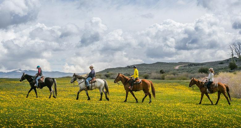 horseback riding at Brush Creek Ranch Wyoming