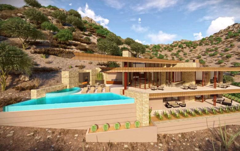 luxury custom homes in Crown Canyon development