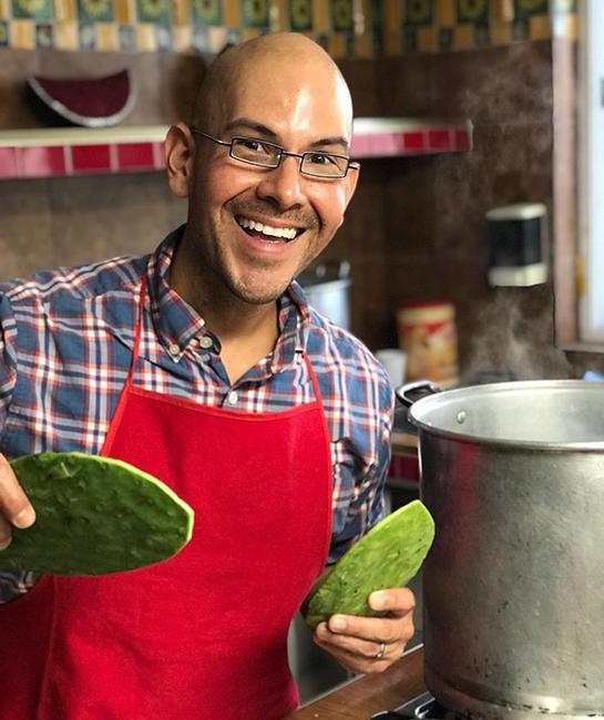 Chef Eddie Garza Vegan Mexican food