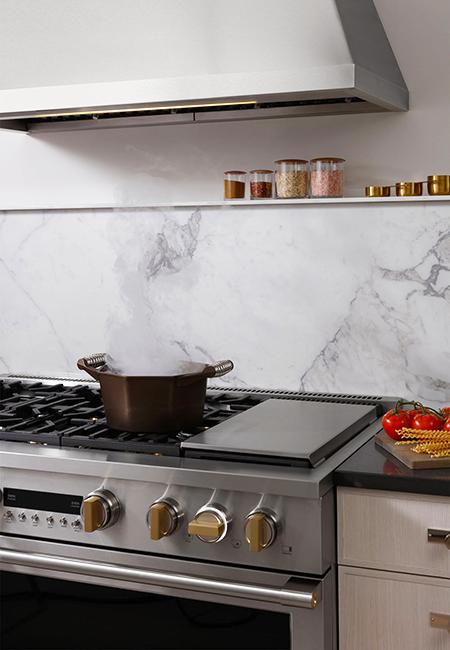 GE Monogram professional kitchen range