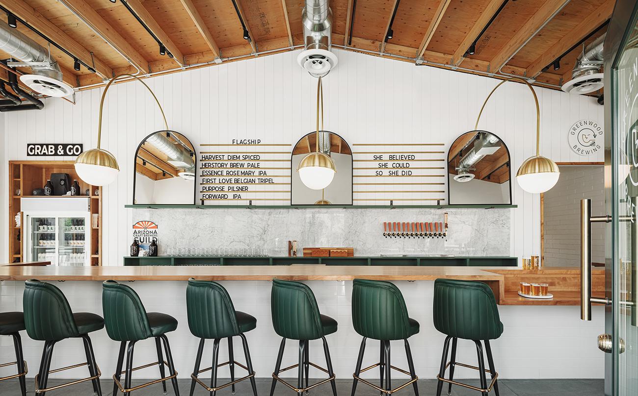 Greenwood Brewery interior design by MacKenzie Collier