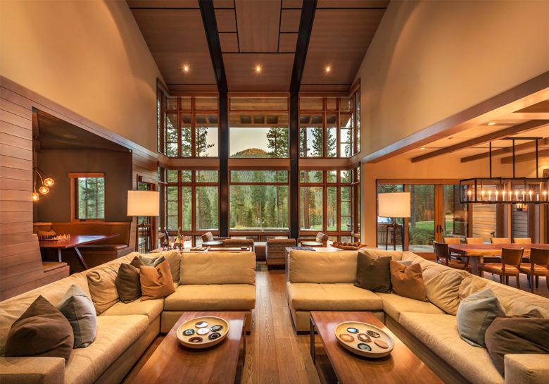 Lake Tahoe luxury cabin design in Martis Camp