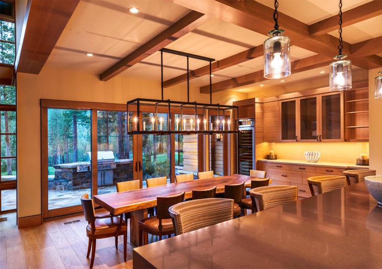 architect John Sather designs luxury mountain cabin Lake Tahoe