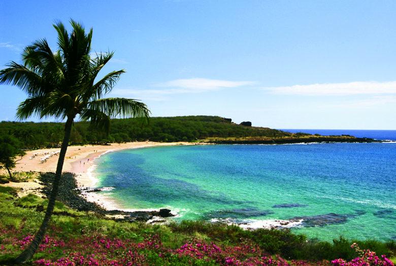 beach vacation on Lanai Hawaiian Island
