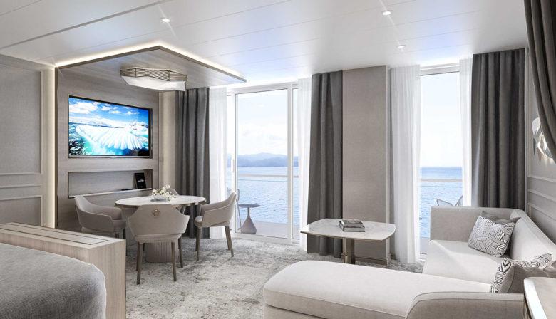 luxury suite on the Crystal Endeavor
