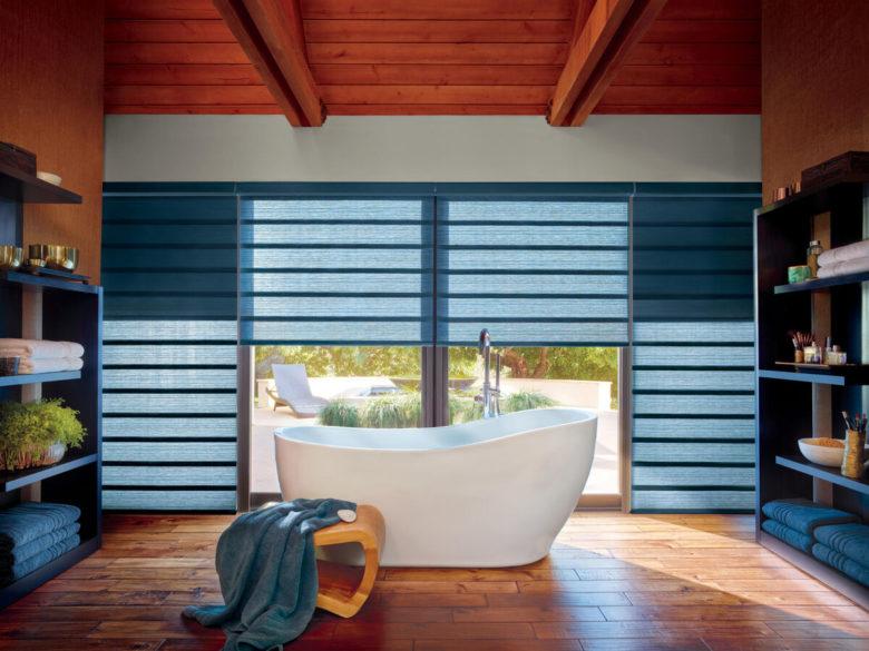 roman shade window covering from Hunter Douglas