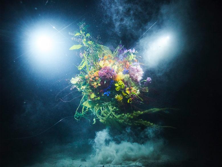 underwater floral design by Makoto Azuma