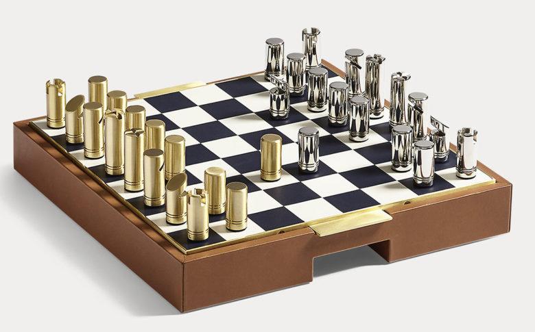 unique chess set by Ralph Lauren