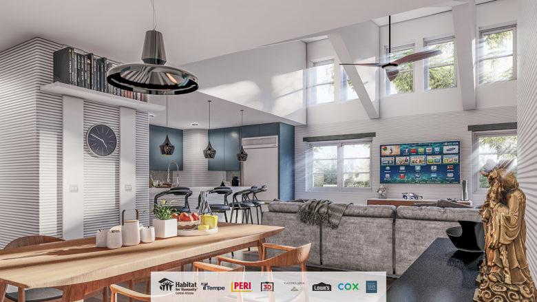 modern 3D home by Candelaria Designs Phoenix