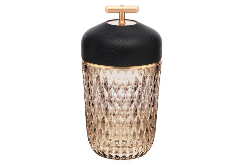 amber crystal Folia lamp by Saint-Louis