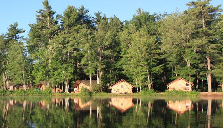 luxury camping at Huttopia Adirondacks