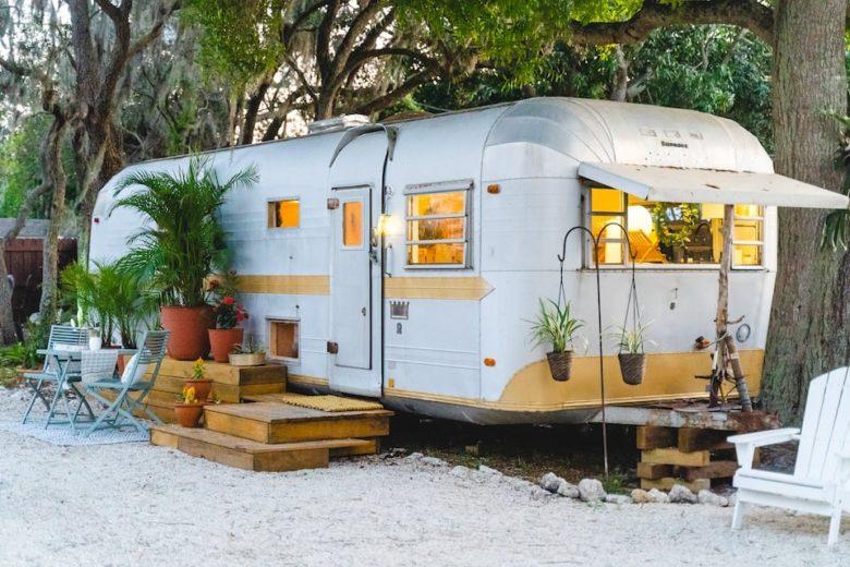Airstream vacation airbnb rental in Bradenton FL