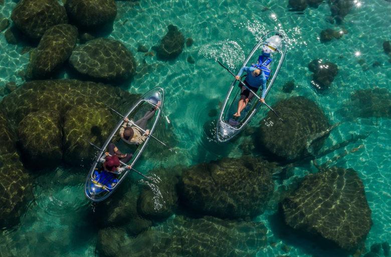 Clearly Tahoe transparent kayaking in Lake Tahoe