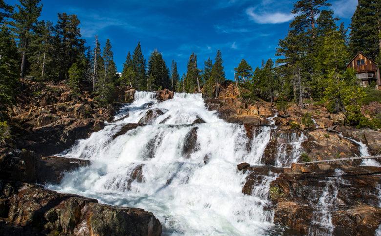 Glen,Alpine,Falls,Lake,Tahoe,California,With,Spring,Flow