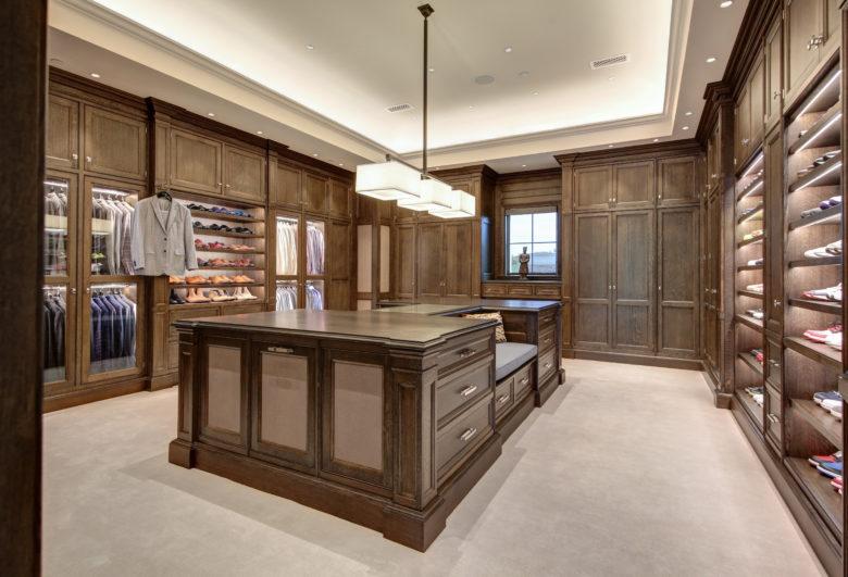 luxury master closet Paradise Valley home