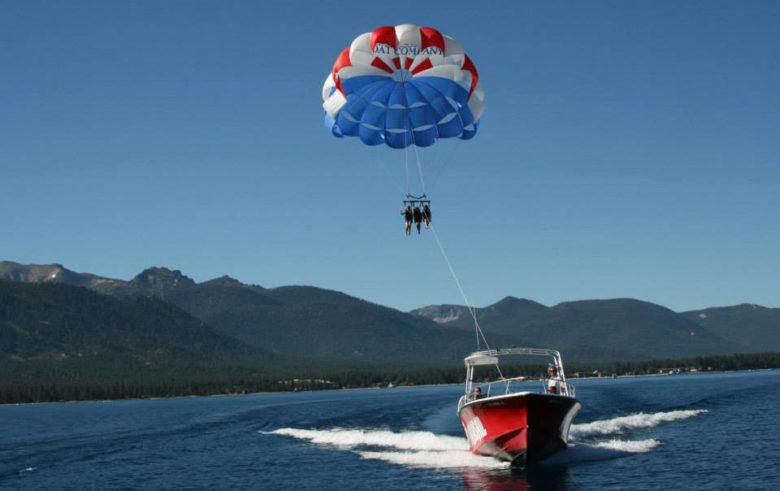 parasailing best thing to do in Lake Tahoe