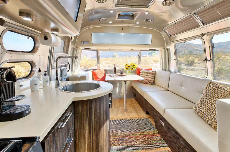 streamline interior of airbnb airstream rental