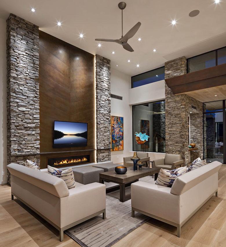 Janet Brooks interiors modern living room design