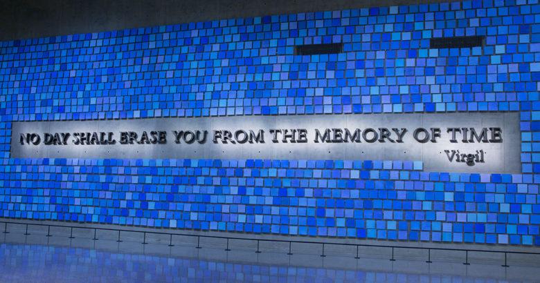New York 9-11 memorial and Spencer Finch art installation