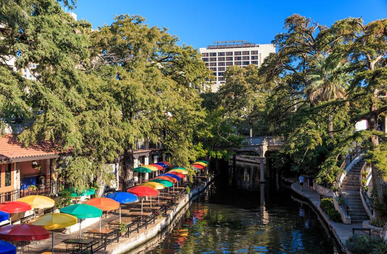 The,Famous,Riverwalk,In,San,Antonio,,Texas.