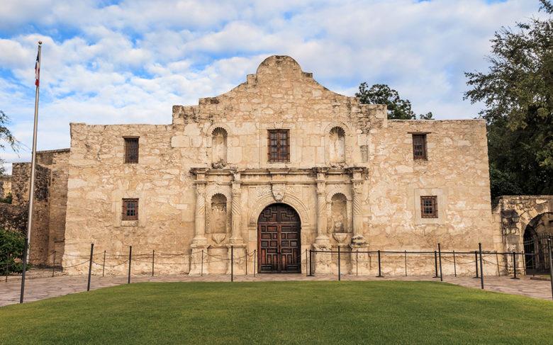 The,Historic,Alamo,At,,San,Antonio,,Texas.