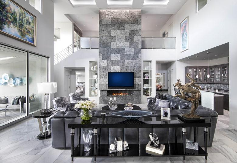modern living room renovation by Cullum Homes
