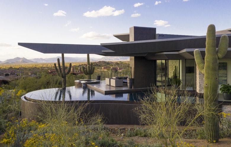 modern desert custom home builder Drewett Works